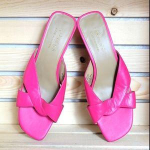 Liz Flex by Liz Claiborne Pink Heeled Sandals